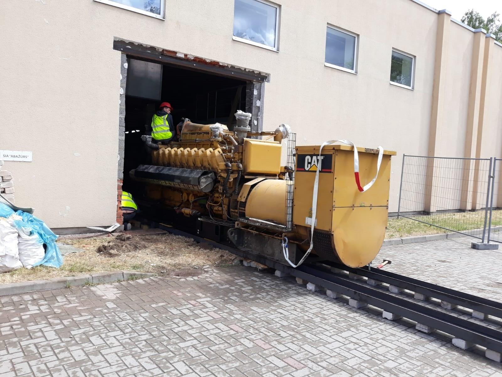 Iekārtu demontāža, pārvešana un koģenerācijas stacijas izbūve gallery