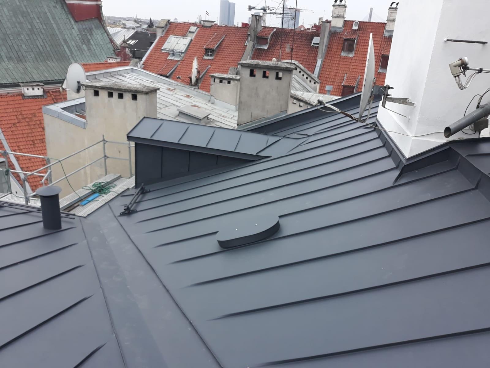 Valcprofila jumta seguma montāža gallery