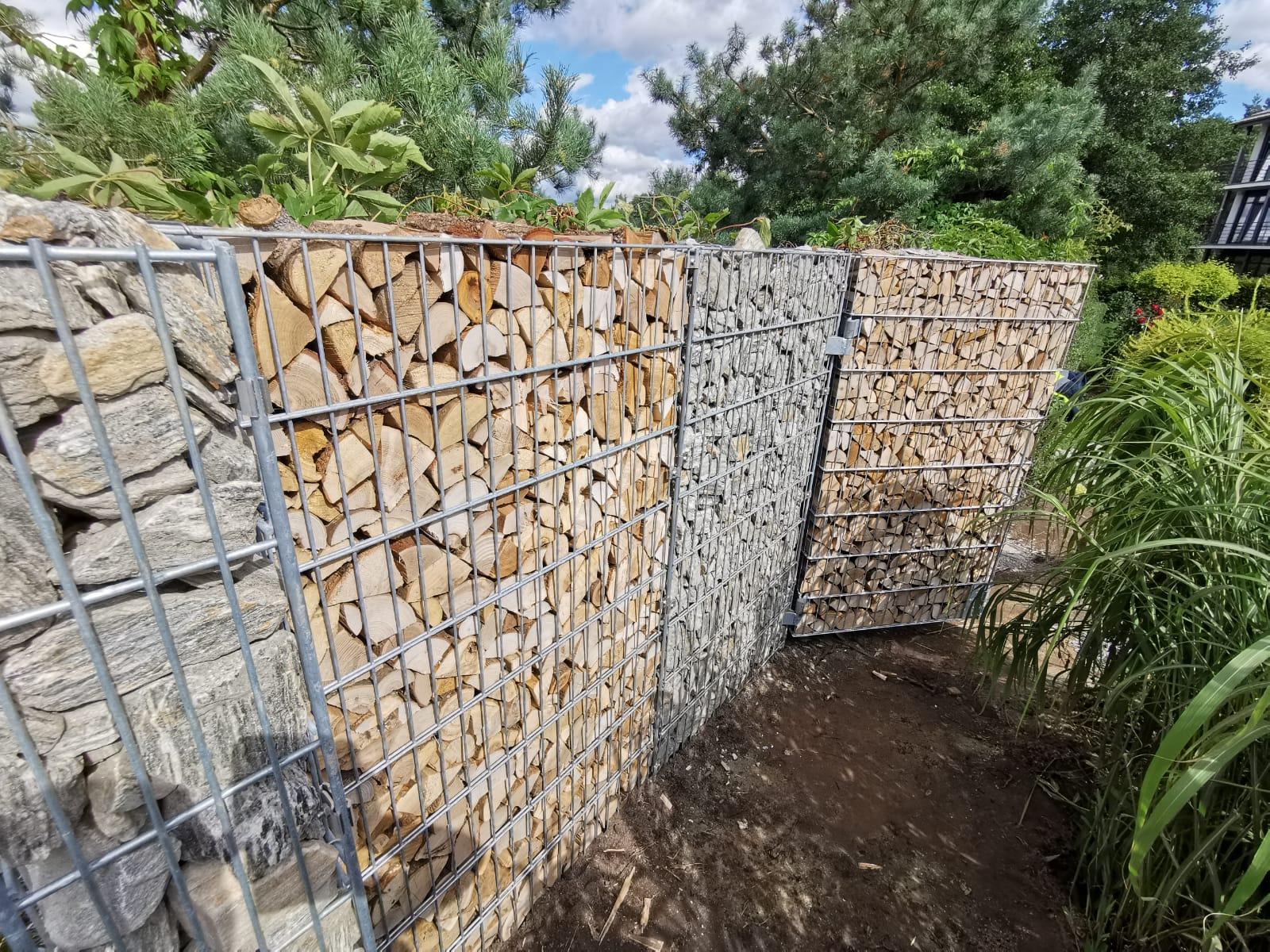 Gabionu ar iestrādātiem vārtiņiem izbūve. gallery